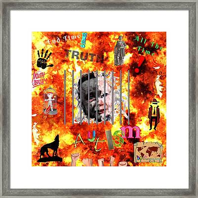 End Time Autism Framed Print