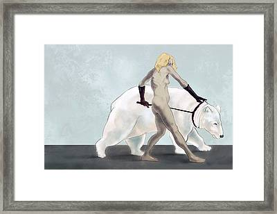 Endangered Species Polar Bear Framed Print by Tom Durham