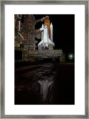 Endeavor On Launch Pad Framed Print