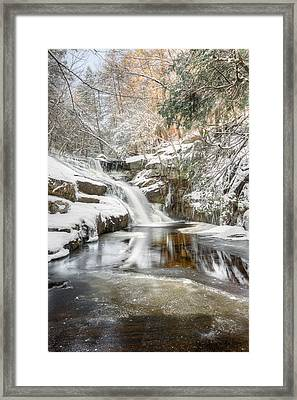 Enders Falls Winter Framed Print by Bill Wakeley
