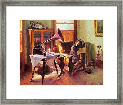Framed Print featuring the painting Ending The Day On A Good Note by Steve Henderson