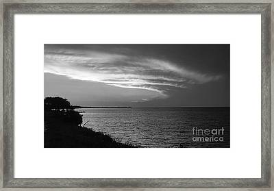 Ending The Day On Mobile Bay Framed Print
