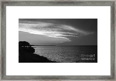 Ending The Day On Mobile Bay Framed Print