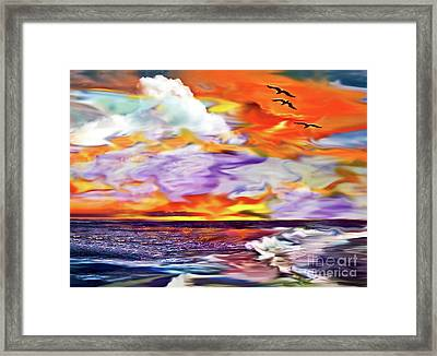 Endings And Beginnings Framed Print