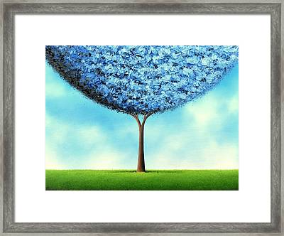 Endless Blue Framed Print by Rachel Bingaman