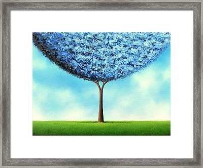 Endless Blue Framed Print