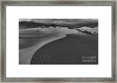 Endless Dunes Black And White Framed Print by Adam Jewell