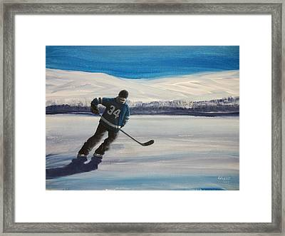 Endless Ice 34 Framed Print by Ron Genest