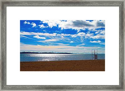 Framed Print featuring the photograph Endless Sky by Valentino Visentini