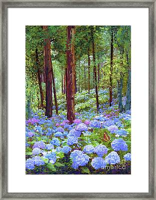 Endless Summer Blue Hydrangeas Framed Print