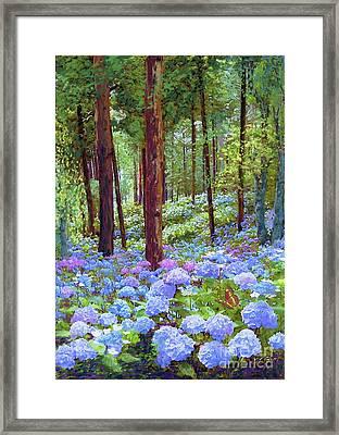 Endless Summer Blue Hydrangeas Framed Print