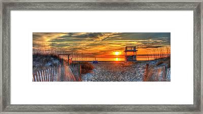 Endless Summer Lifeguard Stand Tybee Island Georgia Art Framed Print
