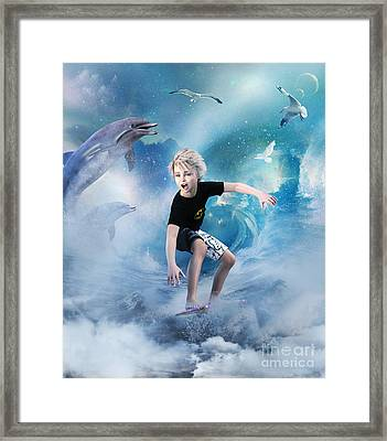 Endless Wave Framed Print