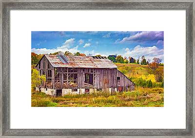 Endurance - Paint 2 Framed Print by Steve Harrington