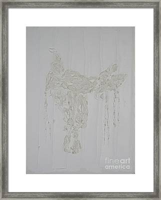 Framed Print featuring the painting Endurance Saddle Ivory by Richard W Linford