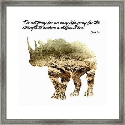 Enduring A Difficult Life Framed Print