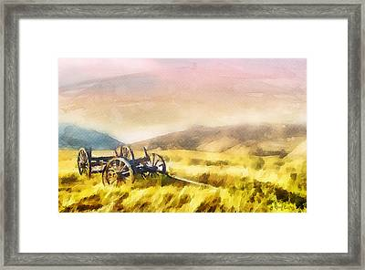 Framed Print featuring the painting Enduring Courage by Greg Collins