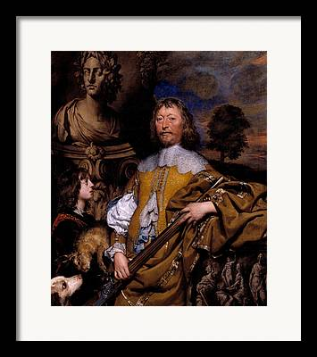 Statue Portrait Paintings Framed Prints