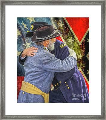 Enemies No Longer Grant And Lee Ver Two Framed Print