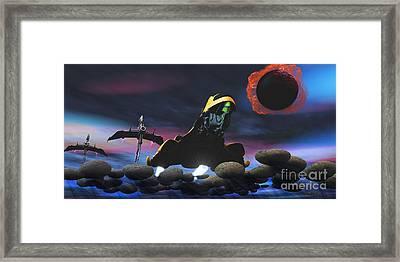 Enemy Spacecraft Framed Print by Corey Ford