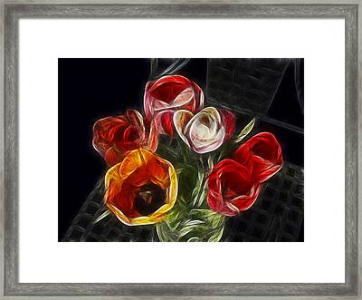 Energetic Tulips Framed Print