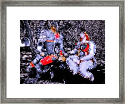 Energetic Twosome Framed Print by Joachim G Pinkawa