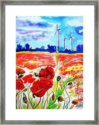 Energie Framed Print by Birgit Schlegel