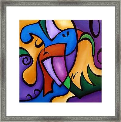 Energized - Abstract Art By Fidostudio Framed Print by Tom Fedro - Fidostudio
