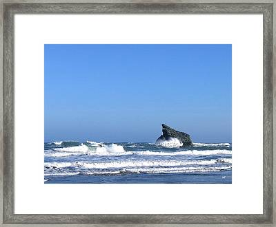 Energizing Waves Framed Print by Will Borden