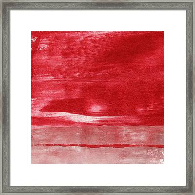 Energy- Abstract Art By Linda Woods Framed Print by Linda Woods