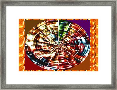 Energy Aura Cleaning Wheel In Motion Yoga Meditation Mandala By Navinjoshi At Fineartamerica.com Framed Print