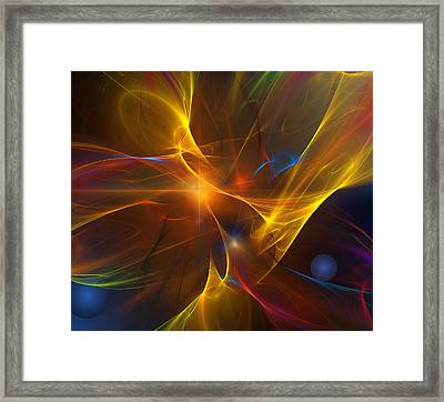 Energy Matrix Framed Print