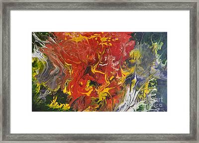 Energy Of Creation Framed Print by Georgeta  Blanaru