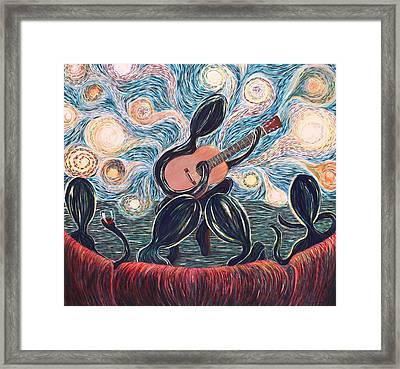 Energy Of Music Framed Print