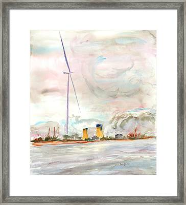 Energy On The Rhone Number One Framed Print by Nancy Brennand
