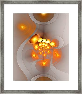 Framed Print featuring the digital art Energy Source by Anastasiya Malakhova