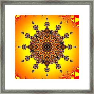 Framed Print featuring the digital art Energy Star by Robert Orinski