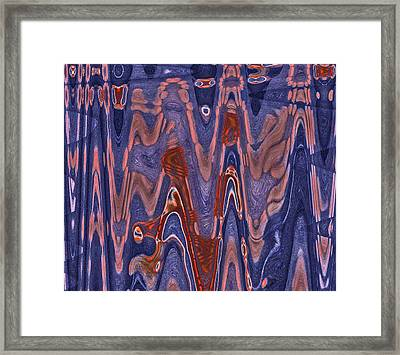 Energy Waves Framed Print