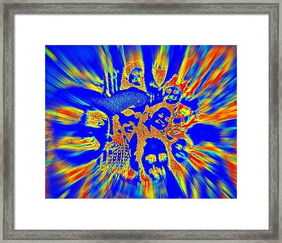 Energy Waves  Framed Print by Jagjeet Kaur