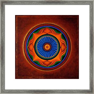 Energy Wheel Framed Print