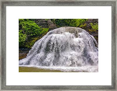 Enfield Glen Lower Falls Framed Print by Steve Harrington