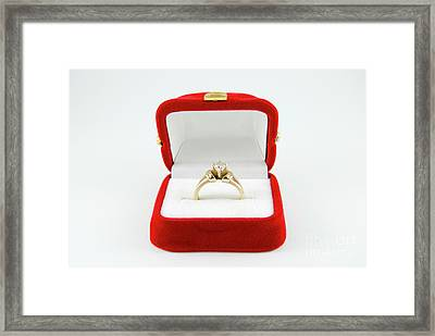 Engagement Ring  Framed Print by Amir Paz