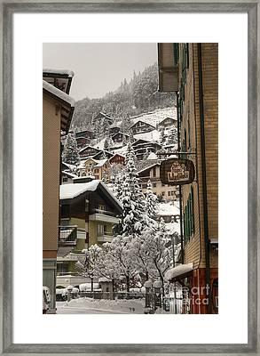 Engelberg Switzerland Framed Print by Caroline Pirskanen