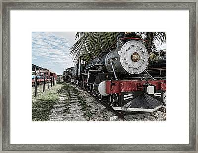 Engine 1342 Parked Framed Print