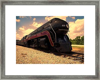 Engine #611 In Ole Town Petersburg Virginia Framed Print by Melissa Messick