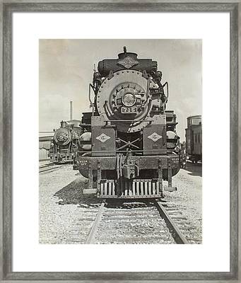 Framed Print featuring the photograph Engine 715 by Jeanne May