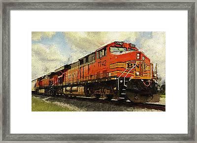 Engine 7742 Framed Print by Ken Gimmi