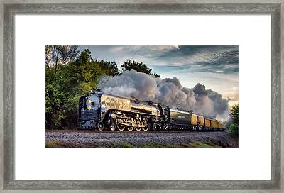 Engine 844 At The Dora Crossing Framed Print