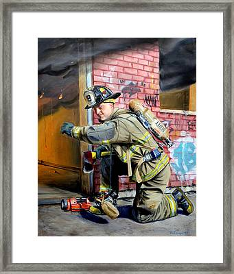 Engine 8's Job Framed Print by Paul Walsh