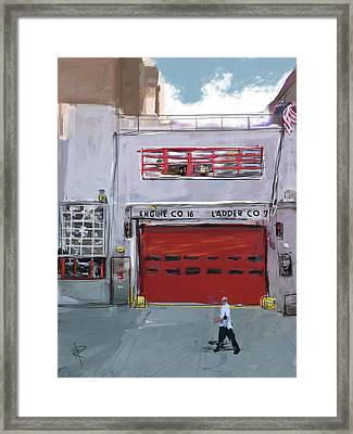 Engine Co. 16 Framed Print by Russell Pierce
